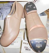 New  BLOCH SPLIT SOLE JAZZ TAP BOOT SO389L TAN Great Sound & Price Ladies Sizes