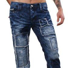 Redbridge by Cipo & Baxx destroyed vintage look Jeans Hose PATCHWORK blau RB-303
