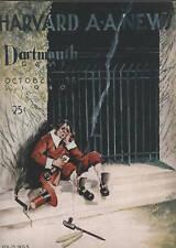 1940 Dartmouth vs Harvard  Football Game Program