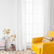Rod Pocket Linen Curtain Panel linen drapes