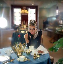 Audrey Hepburn Breakfast at Tiffanys Canvas Wall Art Movie Poster Print Icon