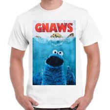 Sesame Street Cookie Monster Gnaws Vintage Cool Retro T Shirt 1742