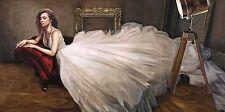 Pierre Benson: El Blanco Vestido Camilla-imagen de pantalla Niña Sofá Erotismo