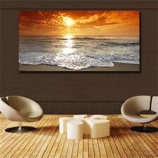 Large art prints Home Decor Canvas Painting Wall Art Beautiful Yellow Sea View