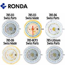 Harley Ronda 785 Quartz Watch Movement, 3 Hands (Swiss Parts & Swiss Made) - NEW