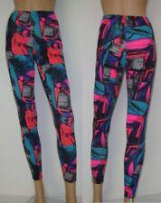 Pantaloni sportivi Leggins nero COLORATO RETRO S - M 34 - 40 danza fitness