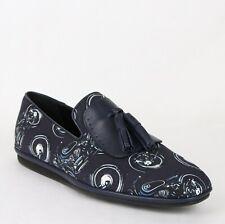 New Salvatore Ferragamo Men's Finnegan Deep Blue Fabric Tassel Loafer 661016