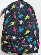 NWT YAK PAK Basic Backpack Book Bag Girls Paint Splatter Black School Pack NEW