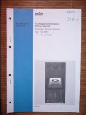 Service Manual Braun TC 550 X  ,ORIGINAL