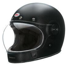 Bell Matte Black Adult Bullitt Carbon Solid Full Face Retro Motorcycle Helmet