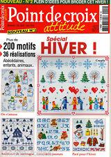POINT de CROIX attitude N°2 - Spécial HIVER, 200 motifs, 36 réalisations