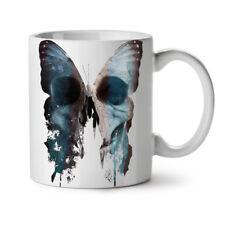 Mariposa cráneo cara Nuevo Blanco Té Café Taza 11 OZ (approx. 311.84 g)   wellcoda