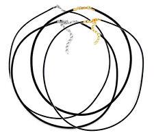 Kautschuk Band Halsband Gummiband 2/3mm, 38-40-42-45-50-55-60-70-75-80-90 cm