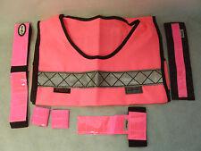 V-Bandz ad alta visibilità Starter Set Ideale Per L'Inverno Equitazione di colore rosa