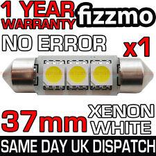 3 SMD LED 37mm 239 272 C5w Canbus Senza Errore Xenon Bianco Luce Targa Lampadina