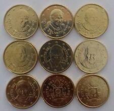 DISPO Toutes les pièces 50 centimes du VATICAN UNC. Choisissez de 2010 à 2018