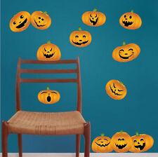 Halloween Pumpkins Wall Decals Wallpaper Scary Seasonal Decorations Vinyl, h11