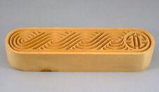 MOULE  à gateaux traditionnel mongol en bois, taillé à la main