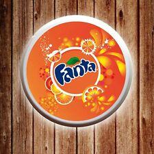 FANTA Light up LED bar sign logo Pub Beer Lager man cave home soft drinks