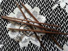 "Prestige Square Wooden Walnut Double Point Wood Knitting Needles- 7"" - Set of 5"