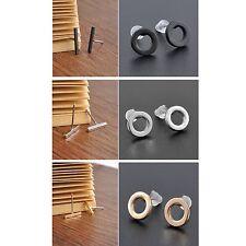 Women's Unisex Black Gold Silver Bar And Hoop Stud Earrings Jewellery Gift UK