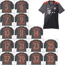 adidas FC Bayern München Away Auswärtstrikot mit Flock 2016/2017 grau/orange