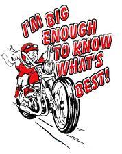 Children's Bike T-Shirt White - I'm Big Enough To Know What's Best Slogan