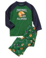 NWT Gymboree Football All-Star Sleep Set Pajama Set PJ NEW Green XS 3 4 $32.95