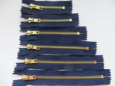 Reißverschlüsse Metall  Farbe Marineblau für Hosen , Längen  8,10,12,14,16,18 cm