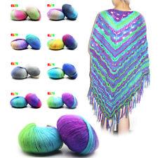 Colorful Yarn lot of 10 needle Crochet hand Craft Knitting Wool Soft Baby 50g