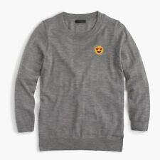 J.CREW Tippi sweater with emoji H3622 color GRAPHITE SUNFLOWER XS S M L XL