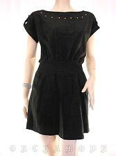 Tunique CLASSIC TRICOT T 40 / 42 L  3 / 4 Velours noir clous Robe Dress NEUF