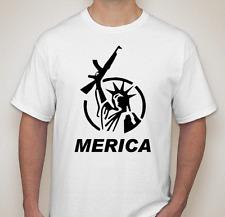 Merica America statue of liberty gun second amendment freedom Tee t-shirt