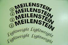 Lightweight Meilenstein Decals Stickers for wheelset. Black