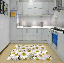 3D Blanc Chrysanthème 033 Décor Mural Murale De Mur De Cuisine AJ WALLPAPER FR