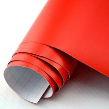 (7,89€/m²) Premium Car Wrap Auto Folie Rot matt mit Luftkanälen BLASENFREI