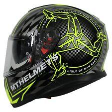 MT Thunder 3 ISLE OF MAN TT RACES Motorcycle Crash Helmet -Hi-Viz + Pinlock