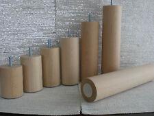 pieds de canapé meuble en bois rond Hêtre Nature M8 ∅= 60mm. h-8cm. jusqu'à 30CM