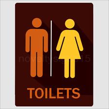 Unisex Toilets Aluminium Office Signs