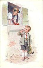 Kinder, Junge, Mädchen, Trachtenkleidung, sign Feiertag