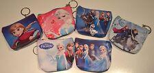 Frozen Coin Purse Bag Zip Keychain Pink Blue Kids Girls Cute Anna Elsa Mini PVC