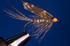 Fliegentom 3 Stück Märzbraune, Nassfliege