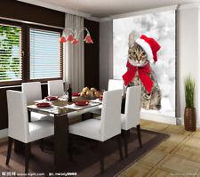 3D Little Red Riding Hood Cat Wall Paper Wall Print Decal Wall AJ WALLPAPER CA