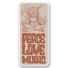 2 X la paz Amor Música Pegatina de vinilo Laptop Viaje Equipaje Coche #6650