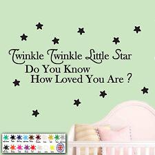 Twinkle Twinkle Little Star - Wall Art Sticker - Baby's Nursery Rhyme Bedroom