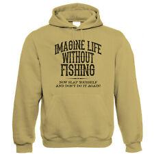 Sudadera con capucha para hombre vida sin la pesca, carpa gruesa mar Volar Pescador de regalo para él Papá
