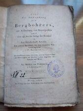 ** Bergbau! Über die Anwendung des Bergbohrers Grafschaft Artois , Wien 1824 !!