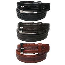 """NUOVO originale modello Pelle Foderato Pantaloni Cintura 1 1/4 """"WIDE Taglie 28"""" -44 """"lh1002"""