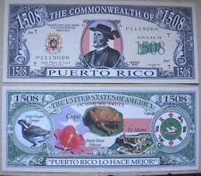Biglietto SEGNALIBRO banconota DOLLARO Porto Rico USA collezione feste