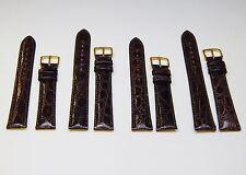 Brown Genuine Crocodile Skin Watch Band Strap 18mm 19mm OR 20mm Regular OR Long